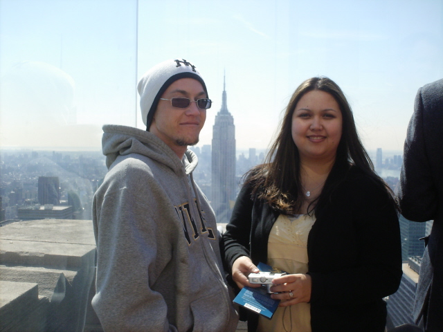 The wife and I on top of Rockefeller Center